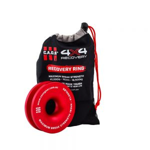 CAOS 4INCH ALUMINIUM RECOVERY RING (RED)  CAOS 4INCH ALUMINIUM RECOVERY RING (RED) 1  CAOS 4INCH ALUMINIUM RECOVERY RING (RED) 2