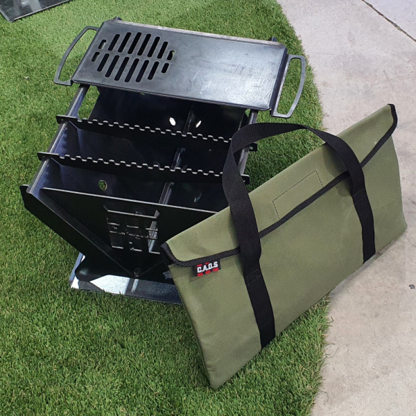 BASE TRAY AND BAG 3  CAOS FIRE PIT MKII WITH GRILL