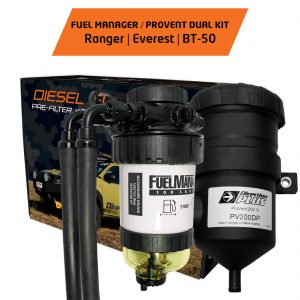 FUEL MANAGER PRE-FILTER PROVENT DUAL KIT FORD RANGER EVEREST MAZDA BT-50||FUEL MANAGER PRE-FILTER PROVENT DUAL KIT FORD RANGER EVEREST MAZDA BT-50 1